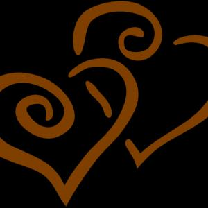 Top Vector Clip Art Of Brown Heart Swirls By Geo Images Design.