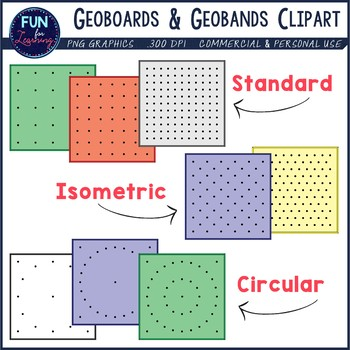 Geoboards & Geoband Shapes {Clipart} by Fun for Learning.