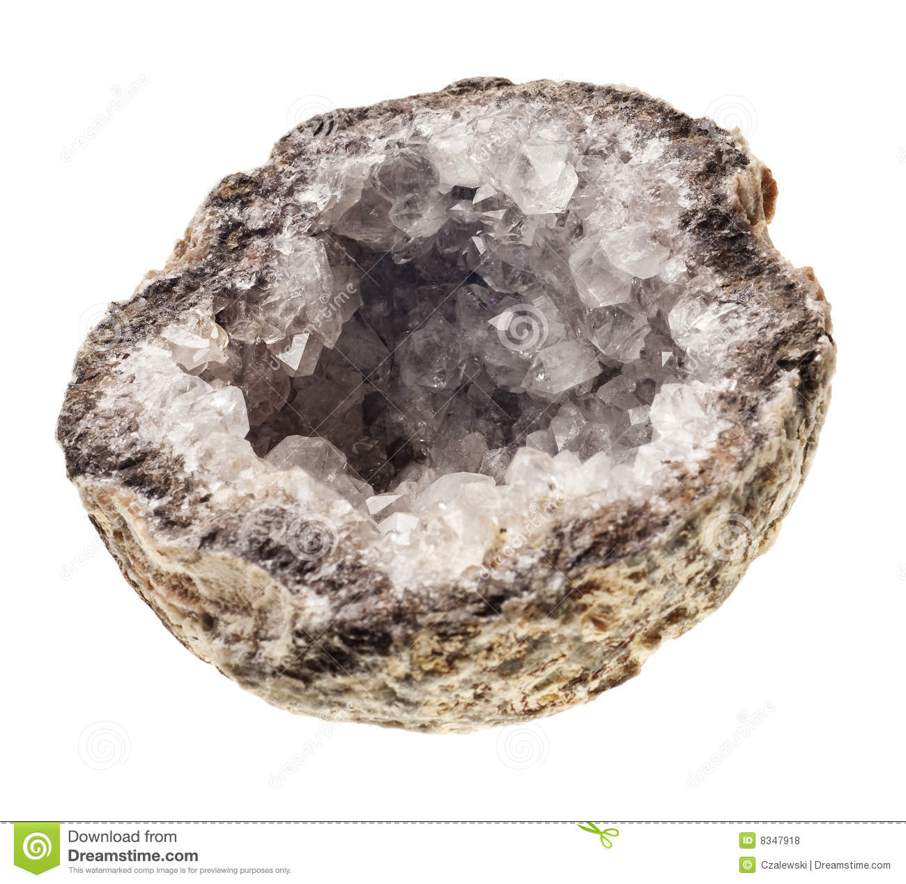 Crystal Geode Stock Images.