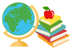 books with apple clipart #6