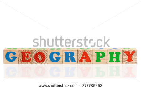 Geography Word Formed By Colorful Wooden Stock Photo 377785453.