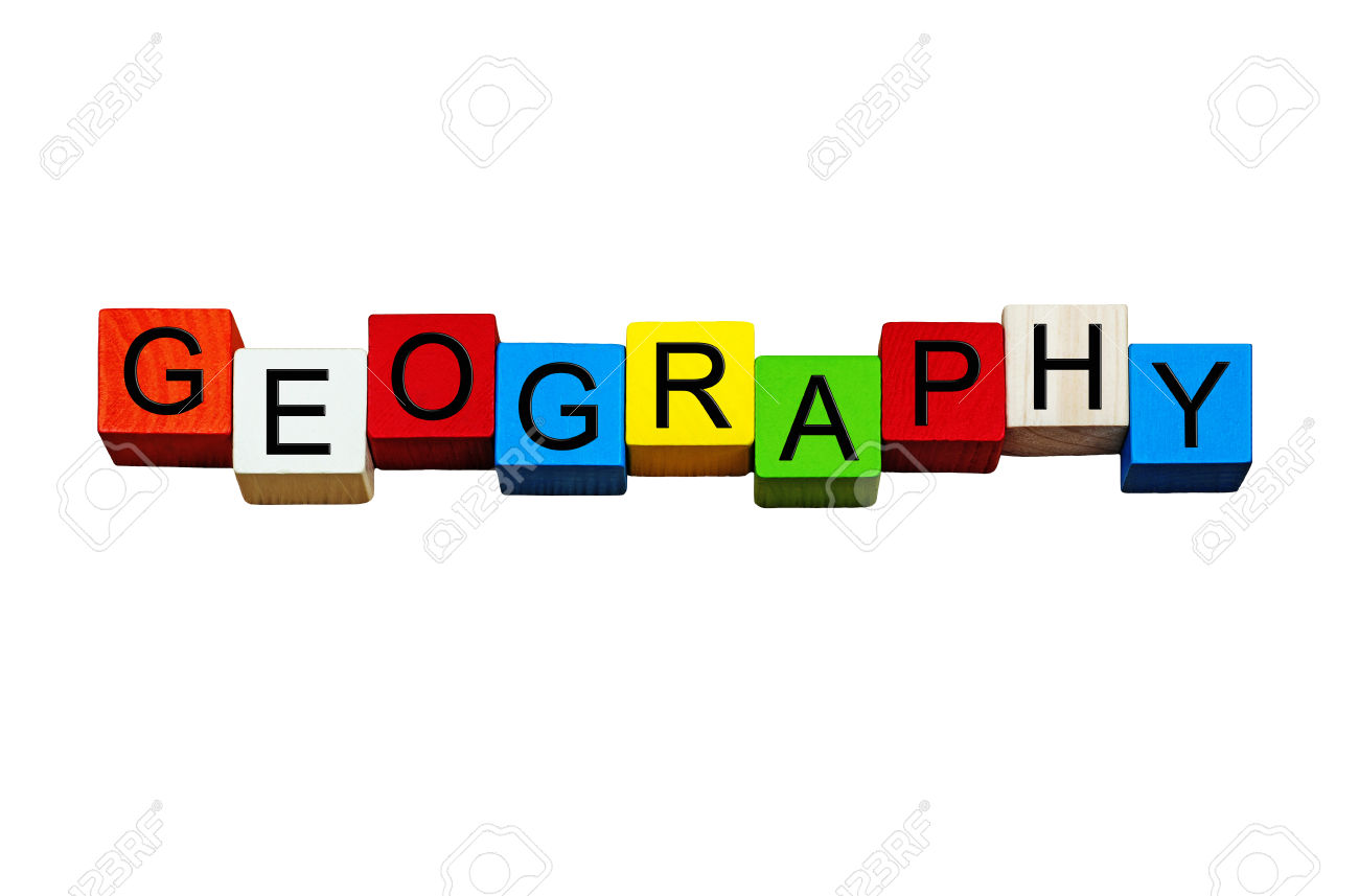 Geography Sign / Banner / Word, For Geography, Schools & Education.