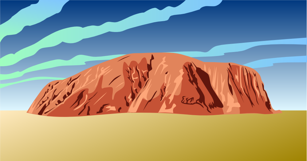 Free Ayers Rock Clip Art.