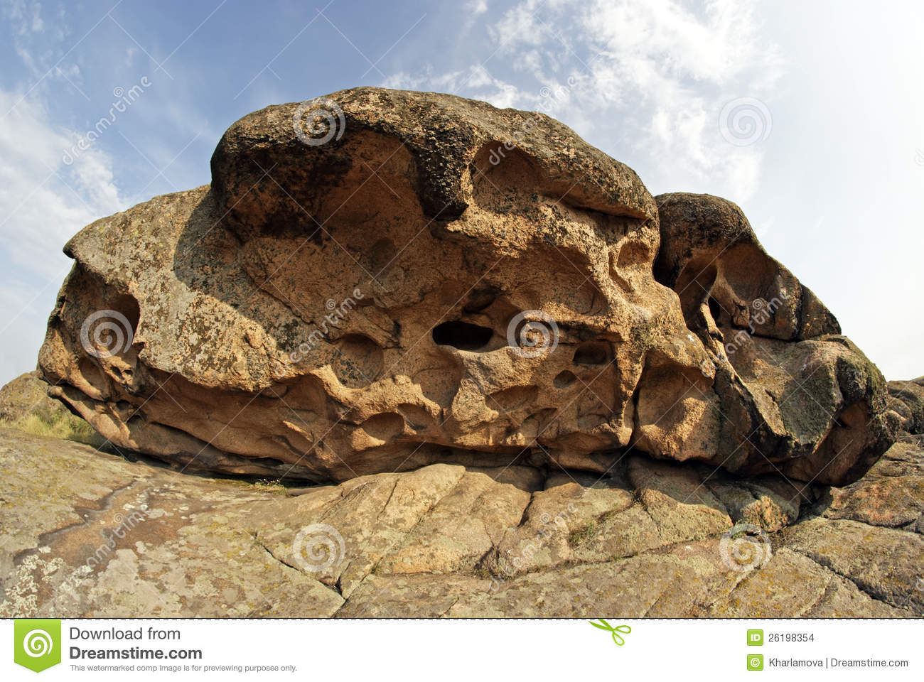Rock Erosion. Weathered. Geological Formations Stock Images.