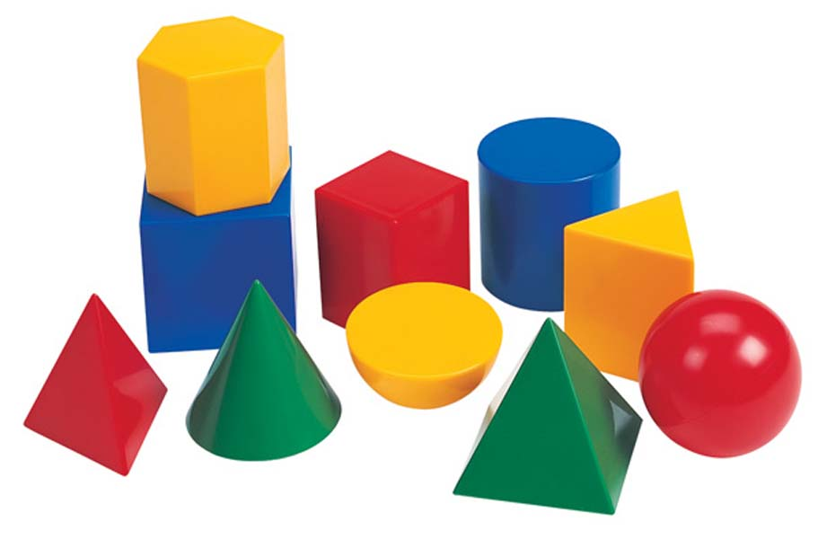 Geometric solids clipart.