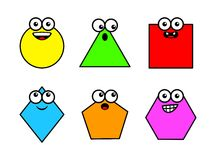 Cartoon Basic Geometric Shapes Stock Photos, Images, & Pictures.