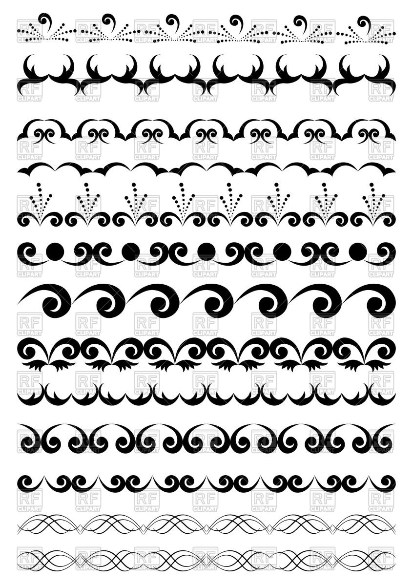 Black geometric borders Stock Vector Image.