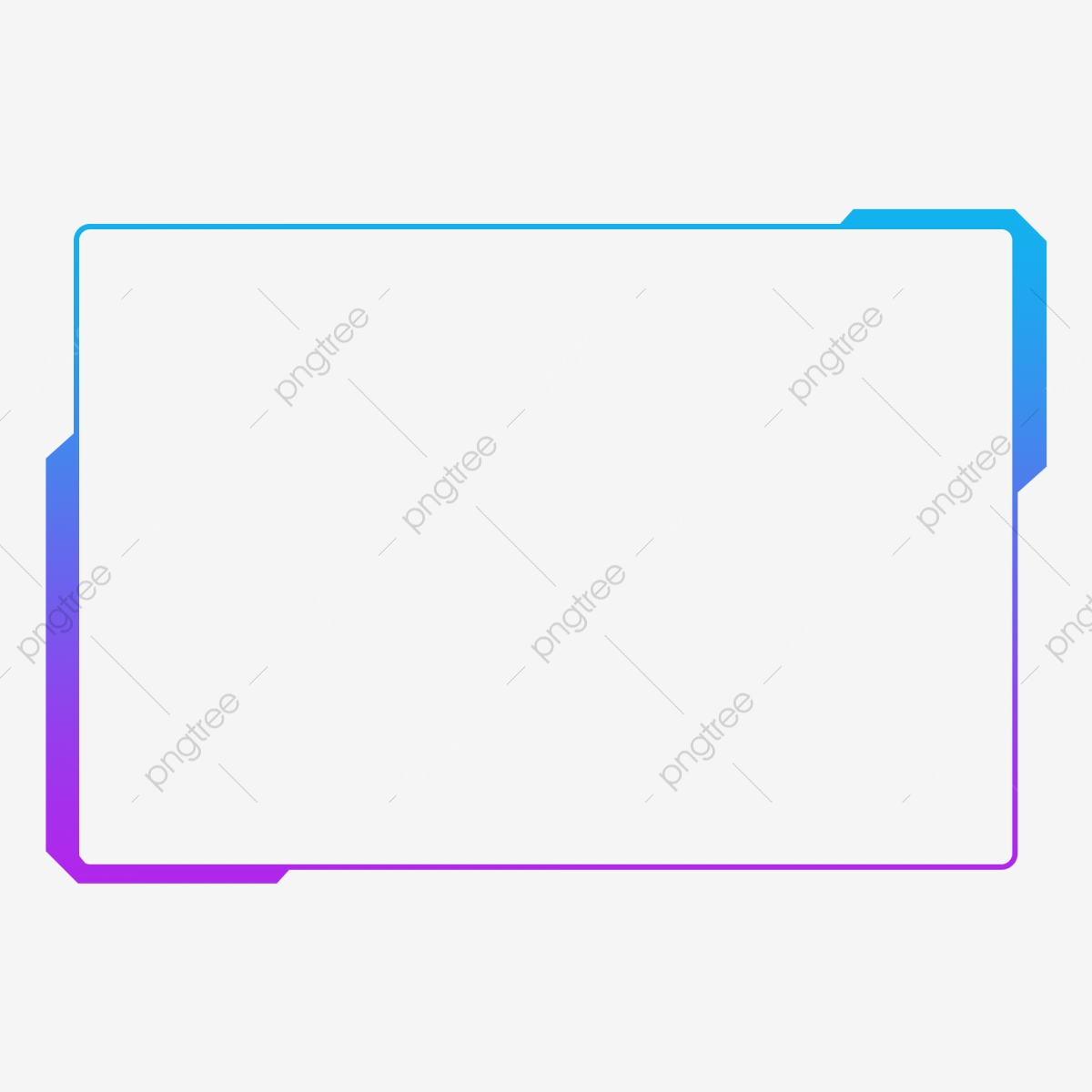 Png Free Buckle Blue Gradient Modern Geometric Square Border.