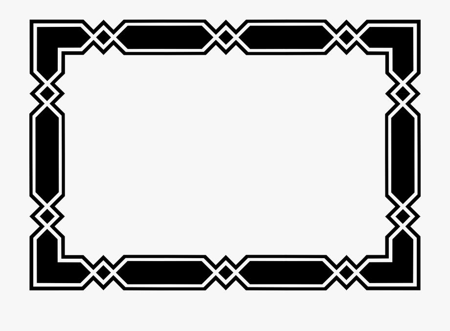 Clip Art Geometric Frame Or Border September Clipart.