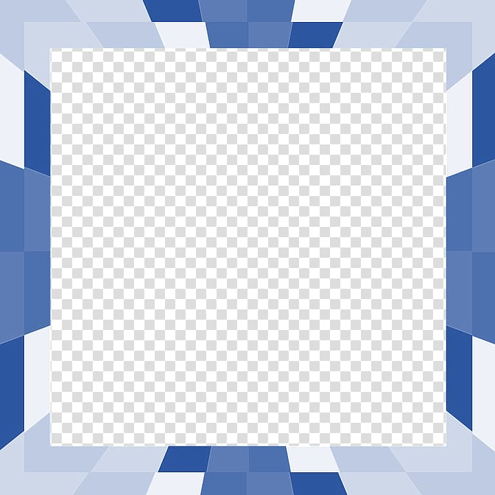 Square blue, white, and gray art, Blue Square Geometry Shape.