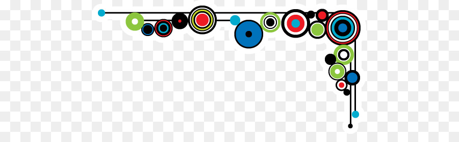 Line Art Border png download.