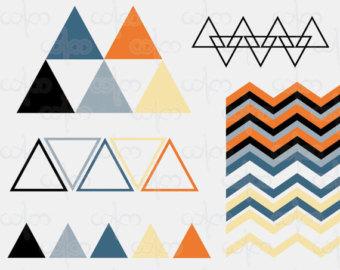 Geometric clip art.