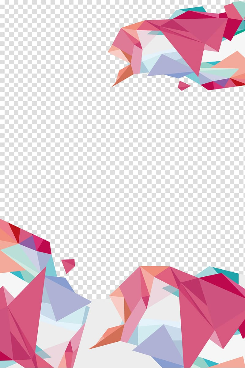 Geometry, Geometric background, multicolored art transparent.