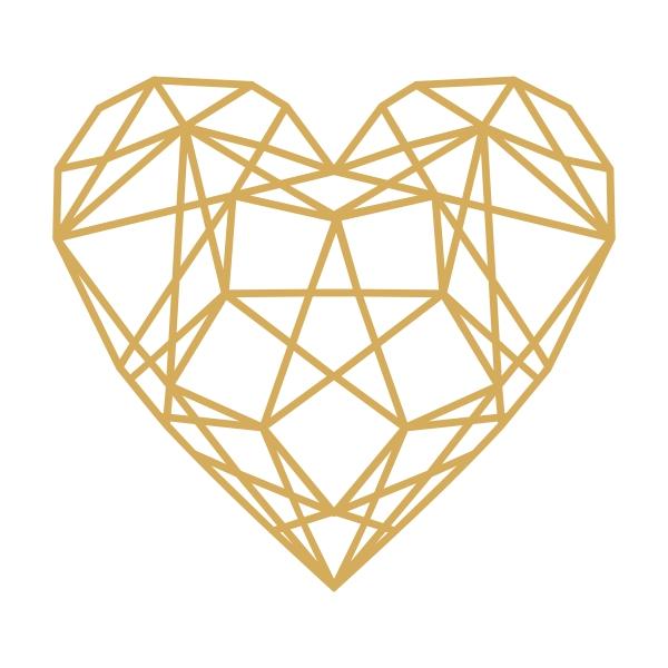 Geometric Heart Clipart.