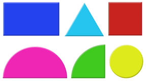 Geometry Shapes Clipart Royalty Free Stock Images.
