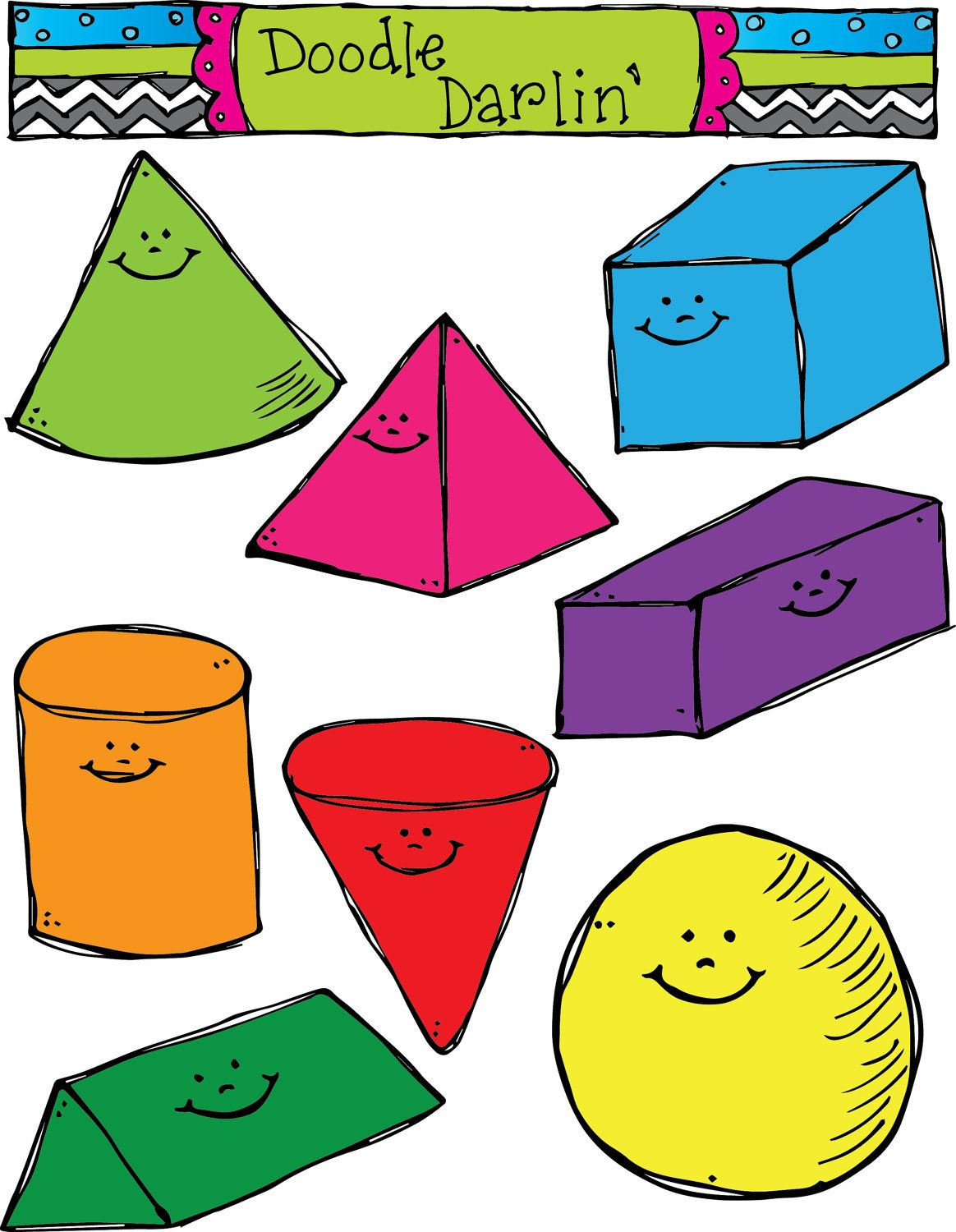 Image result for cute 3d geometric shapes.