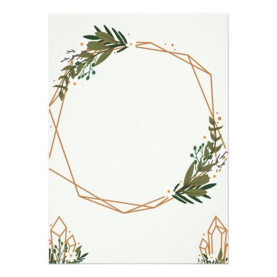 Geometric frame with bouquets.