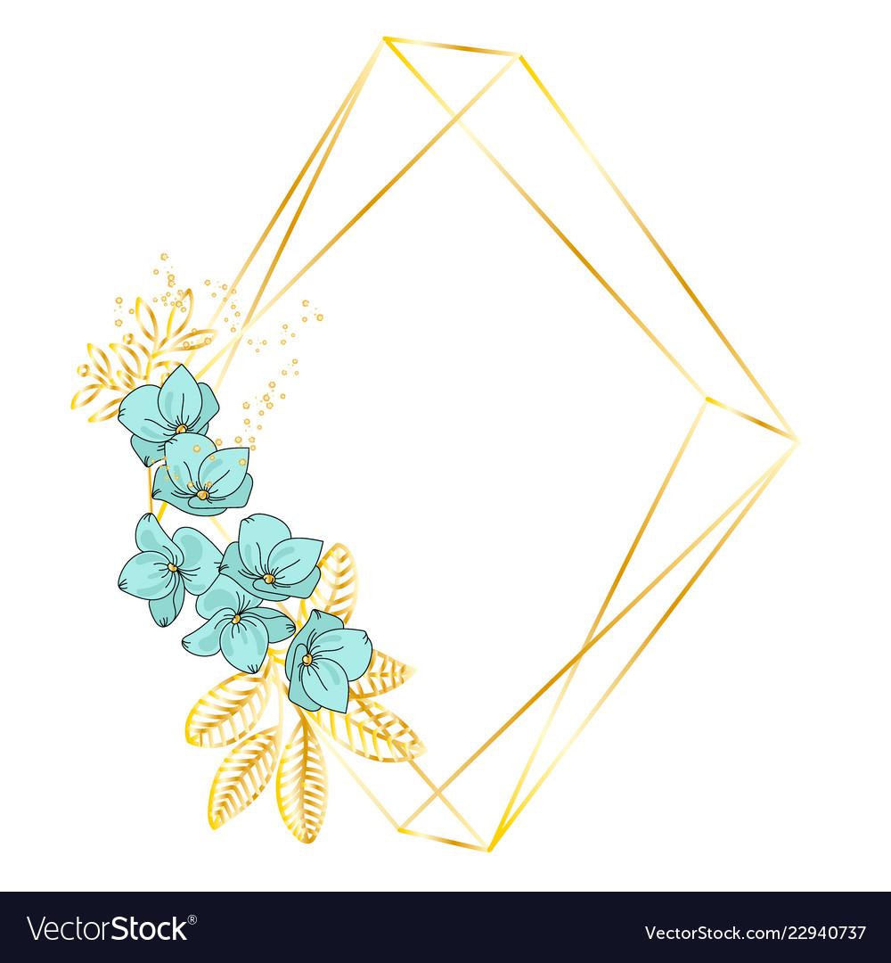 Geometric flowers wedding birthday holiday.