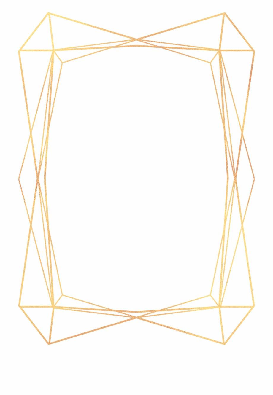 Frame Gold Geometric Frames Ftestickers.