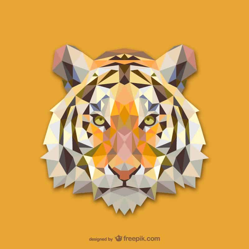 20 Vector Geometric Animals: Free Vector Pack.