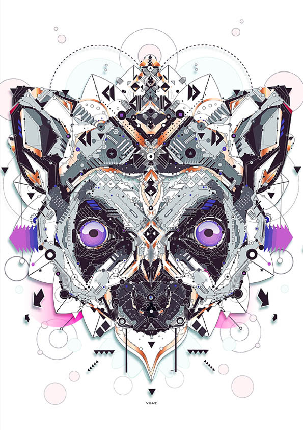 "Graphic designer and illustrator YoAz has created ""Electro Animals."