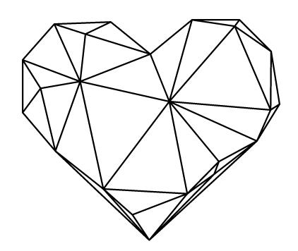 Geometric Heart ….