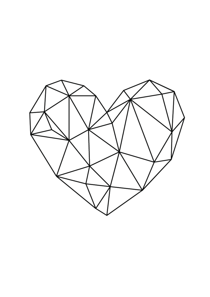 Geometric Heart Png.