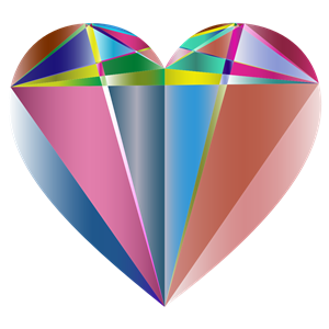 Prismatic Geometric Heart clipart, cliparts of Prismatic.