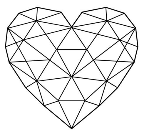 Geometric Heart Silhouette.