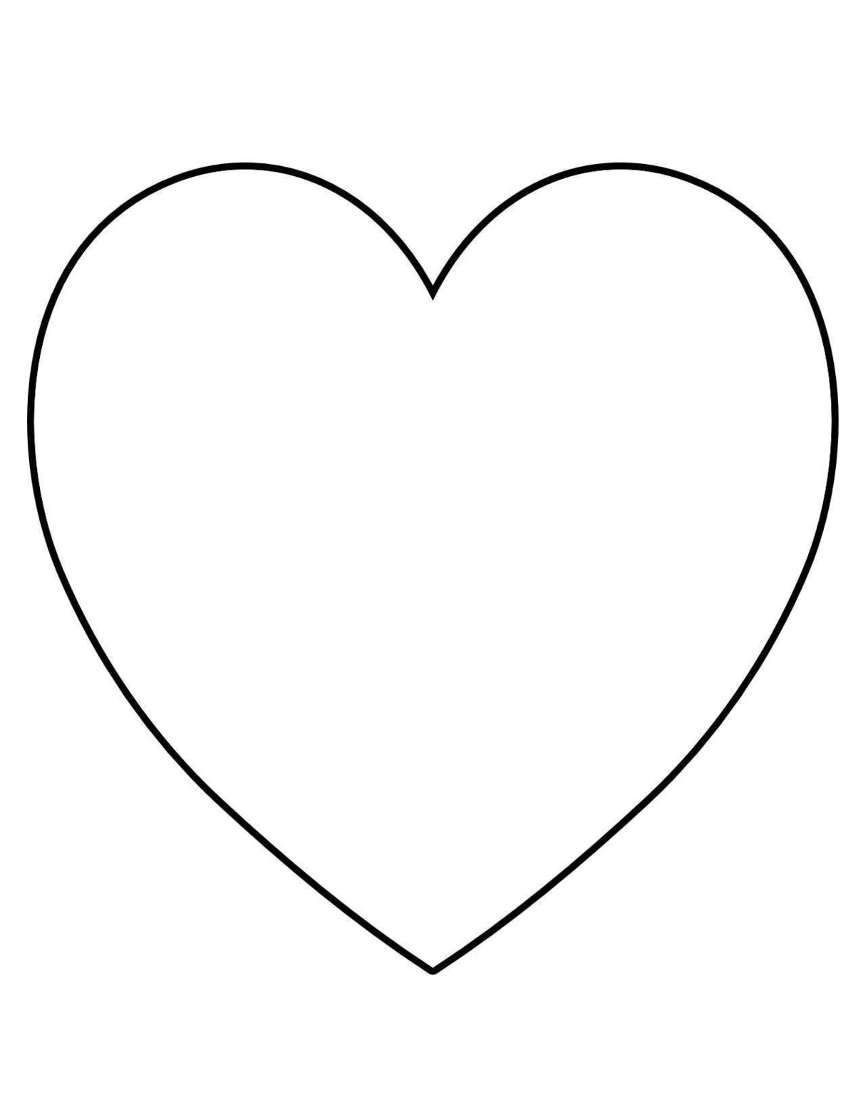 Valentines day geometric heart clipart bw.