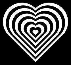 Geometric Zebra Heart Clipart Graphic.