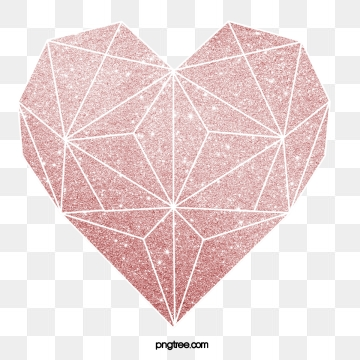 Geometric Heart PNG Images.