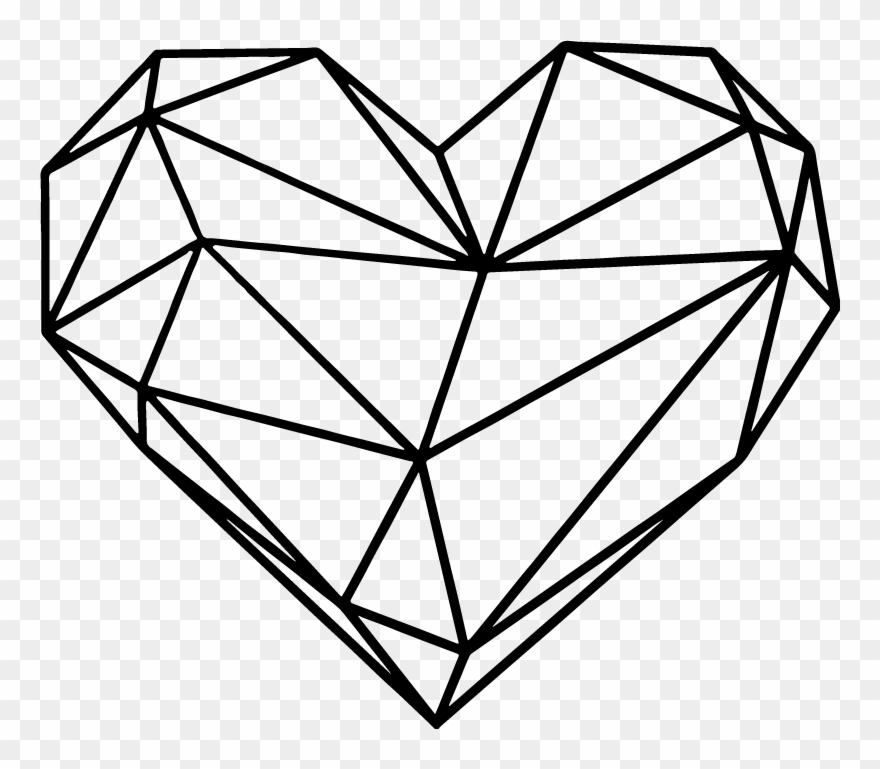 Origami Heart Wall Sticker.