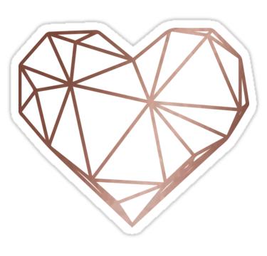 Geometric Heart Png Vector, Clipart, PSD.