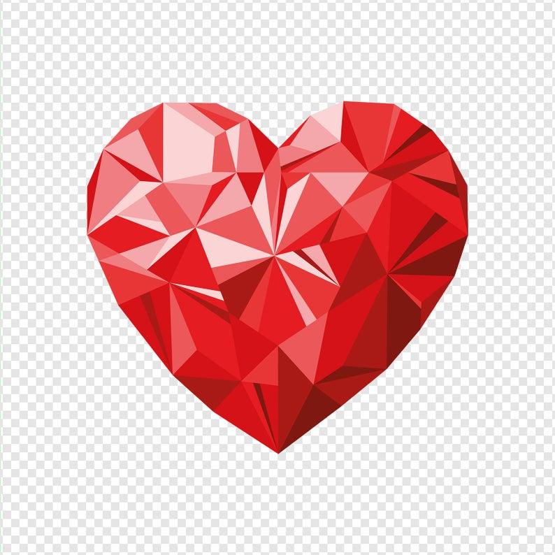 Geometric heart, Heart png, geometric art, Love print, Love, Png,  Valentines gift, Wall art, Printable wall art, Wedding gift, Couples gift.