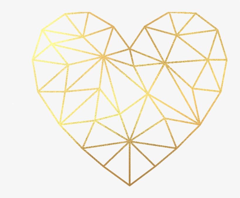 Transparent Geometric Heart.