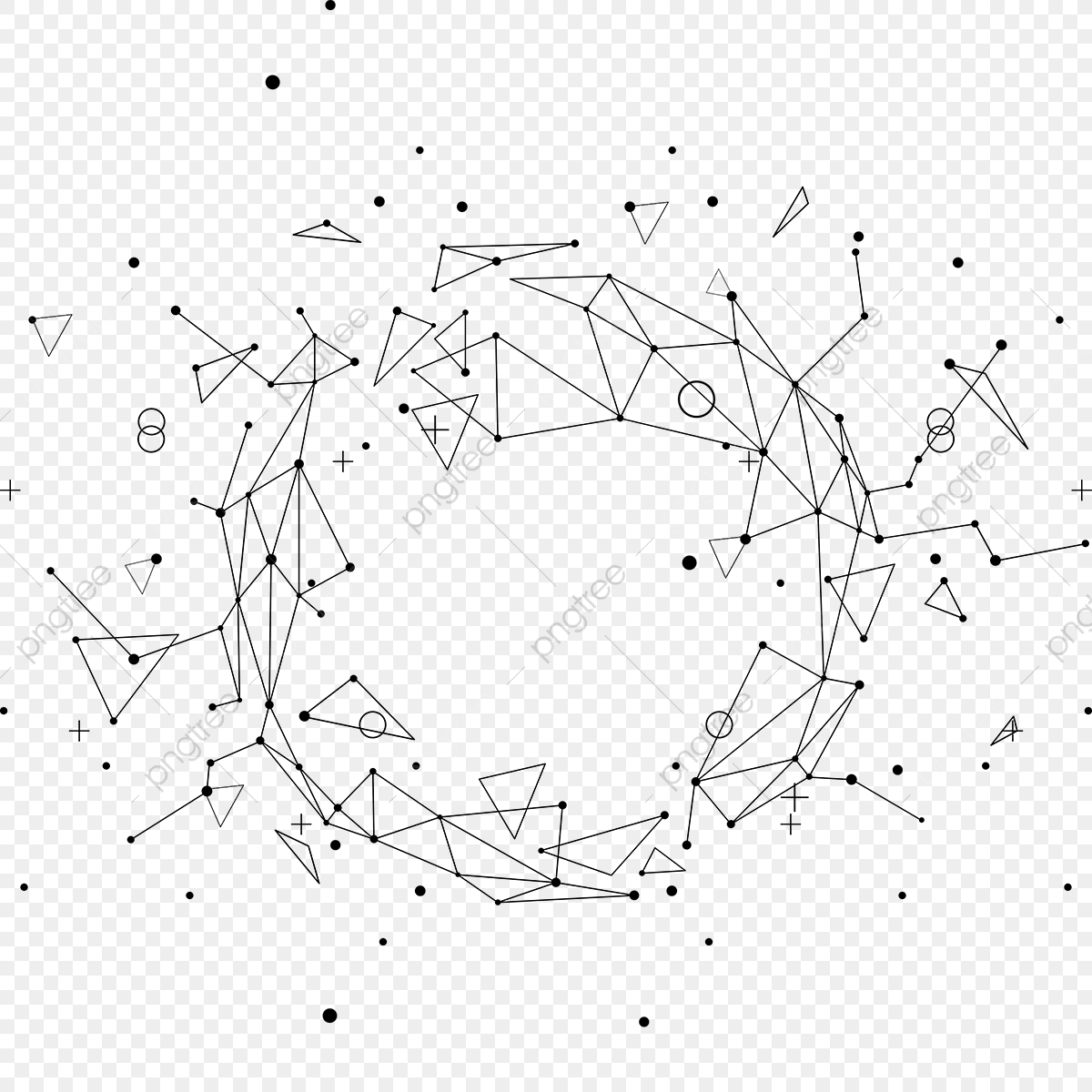 Abstract Geometric Line With Triangle And Vector, Abstract.