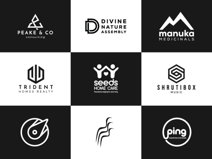 do gym athlete fitness brand modern geometric logo design.