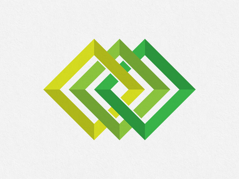 Green Geometric Logo Design Concept by Ilarion Ananiev.