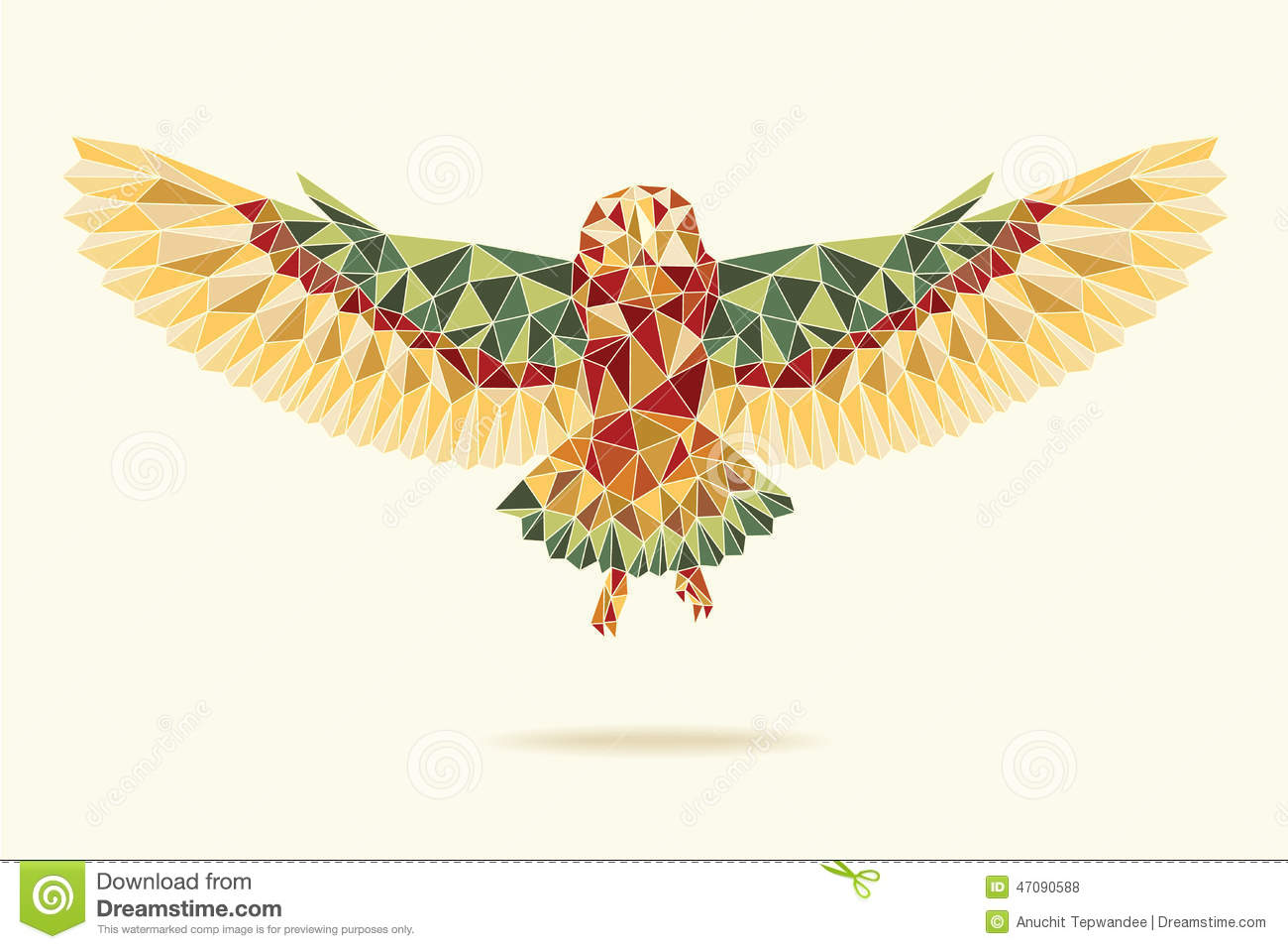 Geometric Owl Stock Vector.