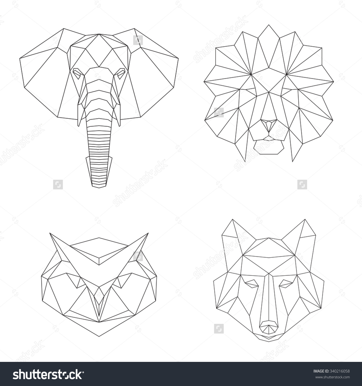 geometric owl clipart - Clipground