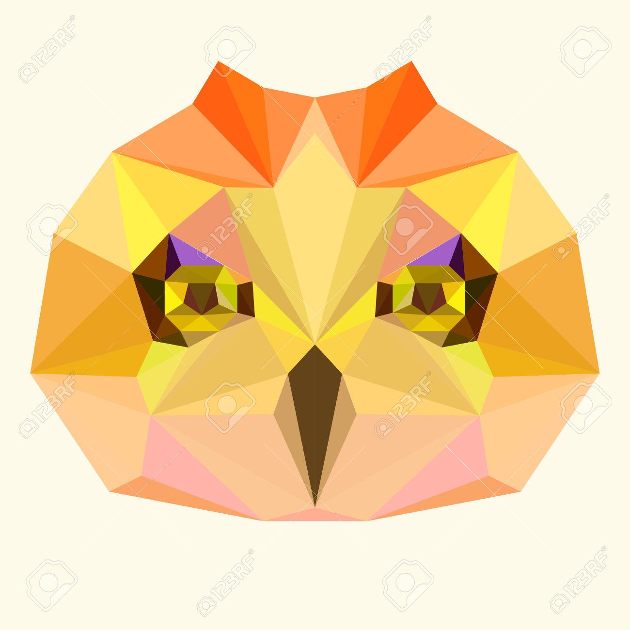 Geometric Owl Clipart.