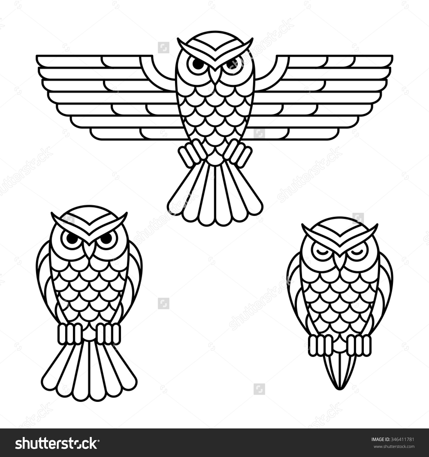 Owl Outline With Owl Clipart Outline : Owl Outline Outline.