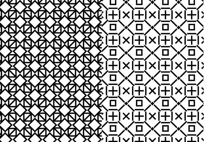 Black White Geometric Pattern.