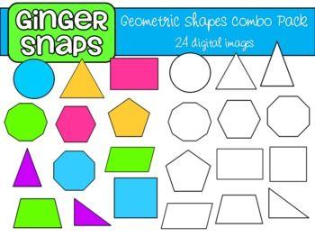 Geometric Shapes Clip Art Set.