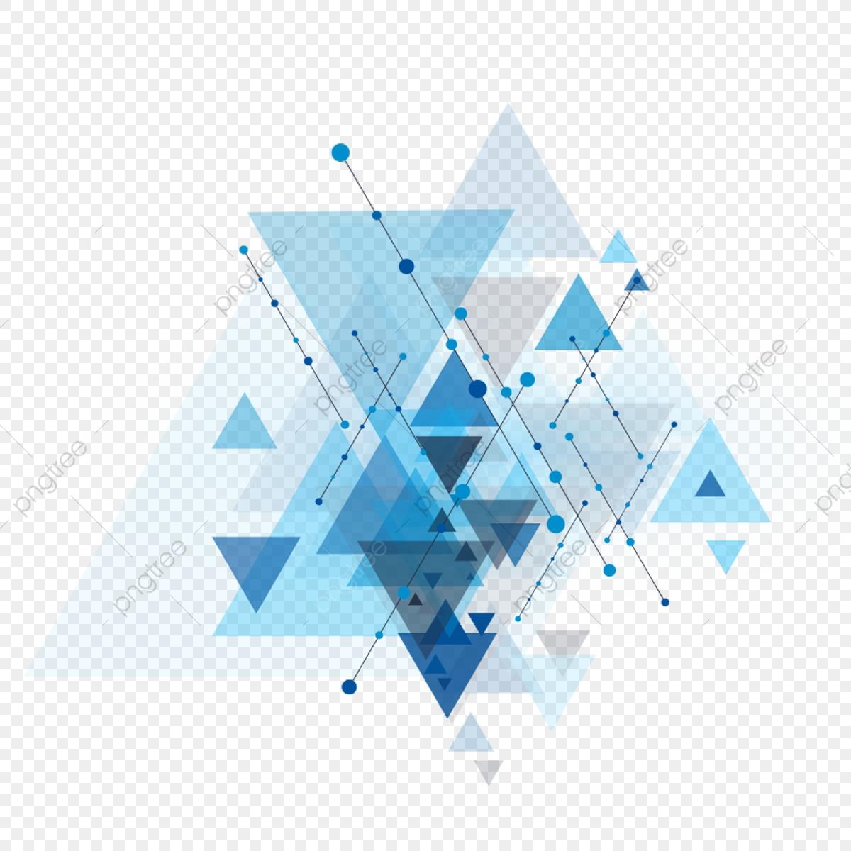 Blue Geometric Shape With Dot Line, Background, Shape, Line PNG.