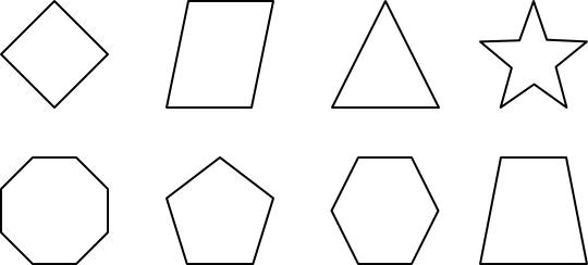 Free Geometric Shapes Clipart Black And White, Download Free.
