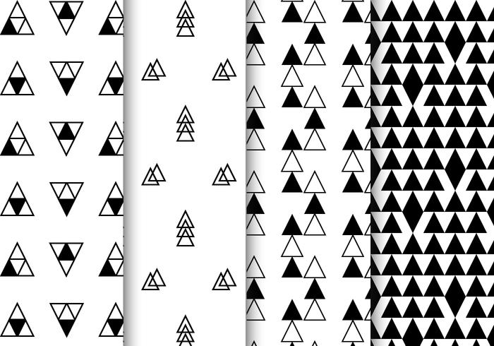 Free Black and White Geometric Pattern Vector.