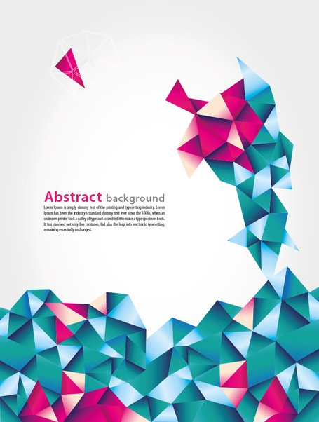 Abstract Geometric Vector Background With Blue And Pink.