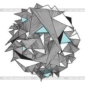 Grunge geometric pattern, modern abstract.